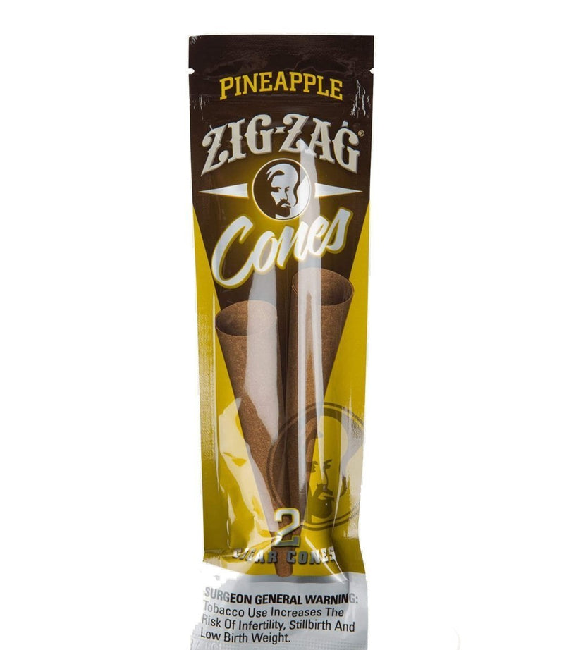 Zig Zag Pre-Rolled Cone Blunt Wraps, Pineapple