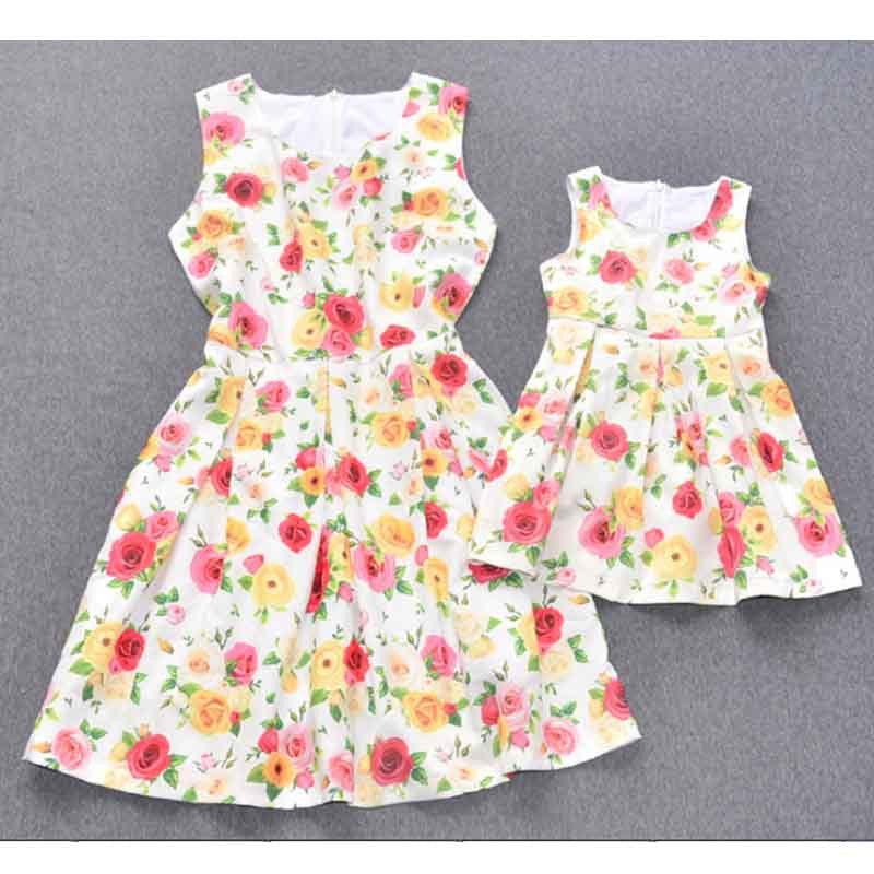 Summer Roses Mother and Daughter Dresses