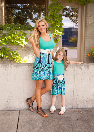 Sea Breeze Mother and Daughter Dress