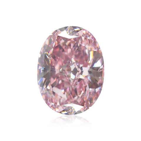 "Fancy Intense Purplish Pink/VS1 ""Oval"" diamant på 0,76 carat"