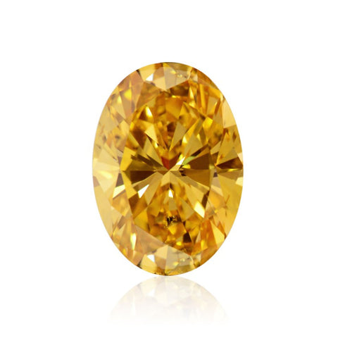 "Fancy Vivid Yellow Orange/SI2 ""Oval"" diamant på 1,77 carat"
