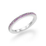 Alliancering - pink safir -