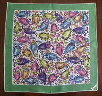 MWT Vintage Colorful Mardis Gras Handkerchief - The Pink Rose Cottage