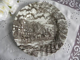 Vintage Royal Mail Brown Transferware Ironstone Dinner Place Set - The Pink Rose Cottage