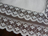 Vintage French Alencon Lace Petite Flowers Bridal Handkerchief - The Pink Rose Cottage