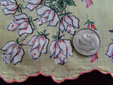 Vintage Tagged Brumel Pink Rosebud Handkerchief - The Pink Rose Cottage