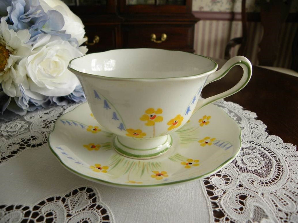 Vintage Royal Albert Buttercups and Bluebells Teacup and Saucer - The Pink Rose Cottage