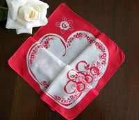 Vintage Handkerchief Folds into a Valentines Heart - The Pink Rose Cottage