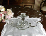 Vintage Pedestal Teardrop Glass Cake Plate - The Pink Rose Cottage