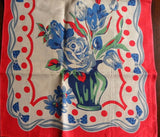 Unused Roses Tulips and Daises with Bows Tea Towel - The Pink Rose Cottage
