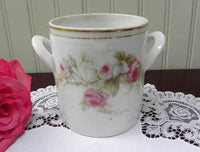 Antique Pink Rose Handled Condensed Milk Holder - The Pink Rose Cottage