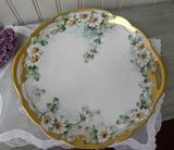 Vintage Hand Painted Daisy Cake Dessert Plate - The Pink Rose Cottage