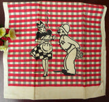 Unused Vintage Startex Maid and Policeman Tea Towel - The Pink Rose Cottage