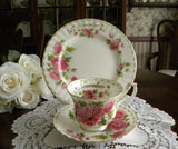 Royal Albert Flower of the Month Teacup & Plate November - The Pink Rose Cottage