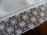 Vintage Linen and Fine Crocheted Lace Wedding Bridal Handkerchief - The Pink Rose Cottage