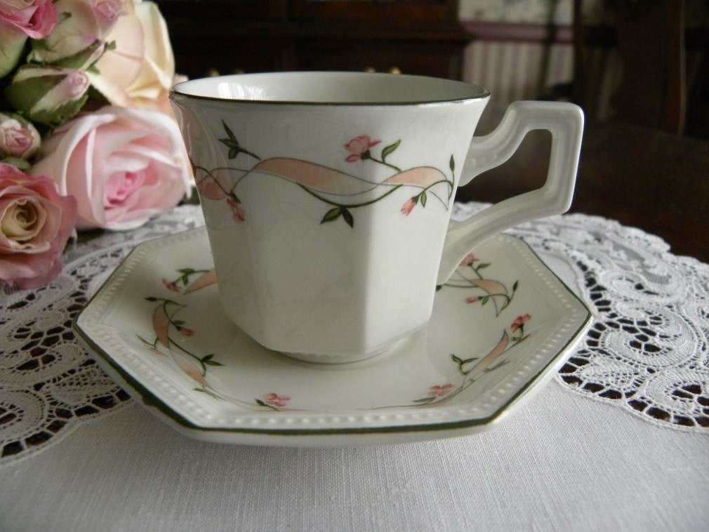 Vintage Johnson Brothers Eternal Beau Pink Rose Demitasse Cup - The Pink Rose Cottage