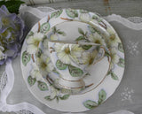 Vintage Tuscan Dogwood Teacup and Luncheon Plate Set - The Pink Rose Cottage
