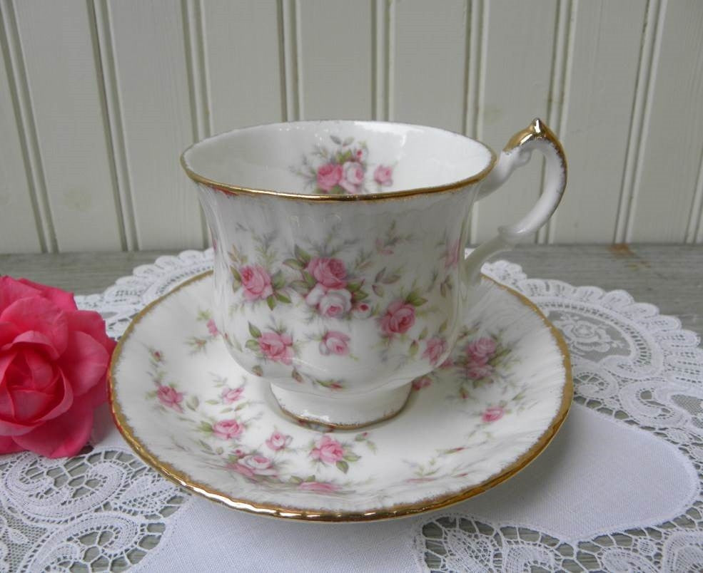 Vintage Paragon Pink Victoriana Rose Teacup and Saucer - The Pink Rose Cottage