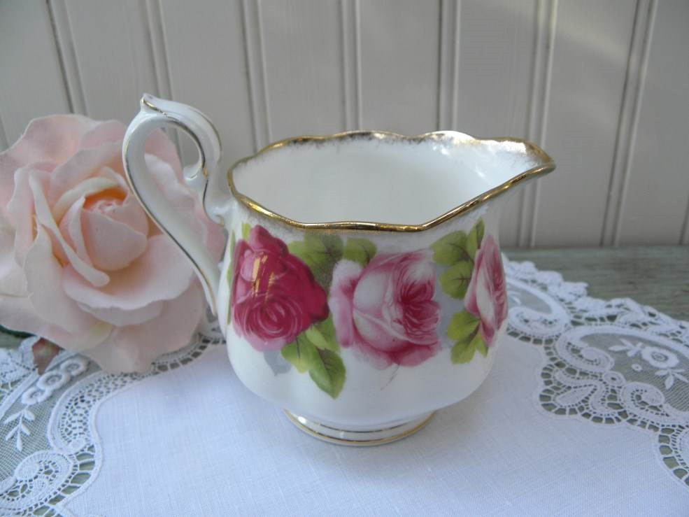 Vintage Royal Albert Old English Roses Creamer - The Pink Rose Cottage
