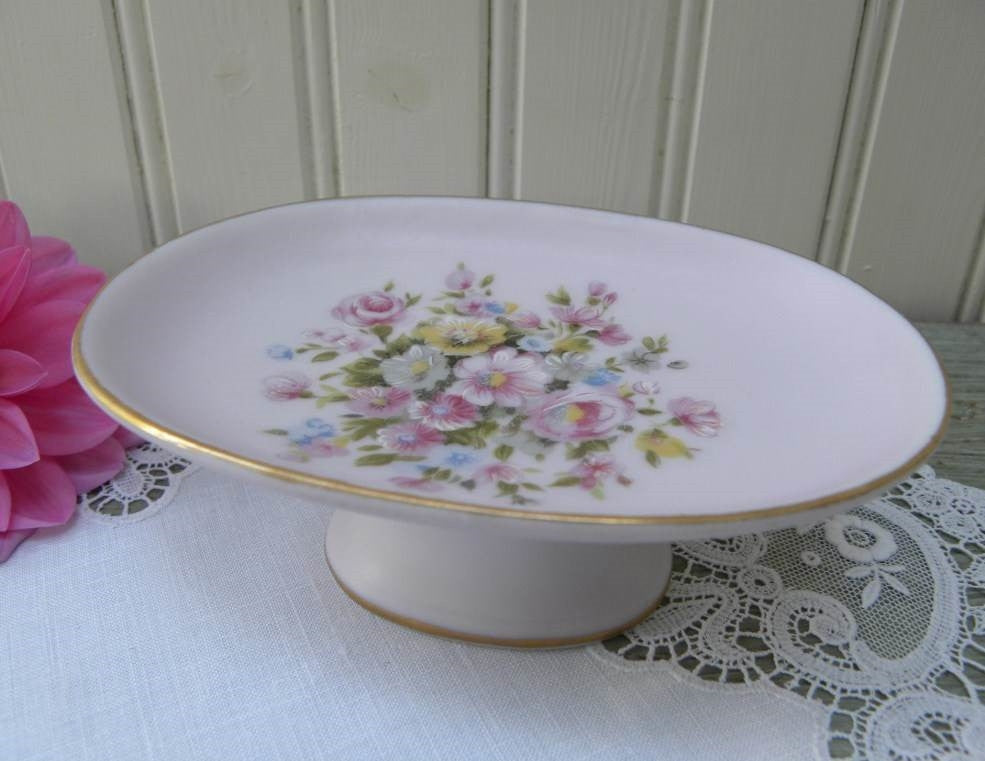 Vintage Pink Rose and Wildflower Soap Dish Holder - The Pink Rose Cottage