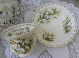 Vintage Royal Albert Flower of the Month January Snowdrops Teacup - The Pink Rose Cottage