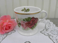 Antique Shaving Mug with Light and Dark Pink Roses - The Pink Rose Cottage