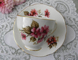 Vintage Pink Daisy Teacup and Saucer - The Pink Rose Cottage