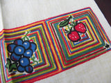 Unused Vintage Startex Tea Towel Grapes Apples Strawberries and More - The Pink Rose Cottage