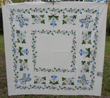 "MWT Vintage Garden State House of Prints ""Americana"" Tablecloth - The Pink Rose Cottage"