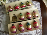 Vintage Shiny Brite Rainbow Tear Drop Christmas Tree Ornaments - The Pink Rose Cottage