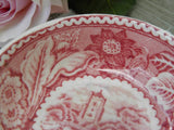 "Vintage Wood & Sons ""Woodland"" Red and White Transferware Nut Cup or Butter Pat Dish - The Pink Rose Cottage"