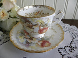 Vintage Aynsley Orchids Teacup and Saucer - The Pink Rose Cottage