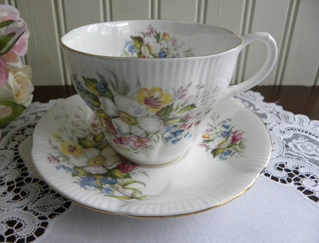 Vintage Royal Albert Wild Flowers and Blossoms Teacup and Saucer - The Pink Rose Cottage