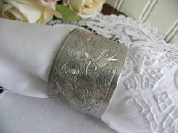 Antique Silver Plated Oriental Dragon Napkin Ring - The Pink Rose Cottage