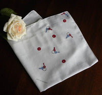 Vintage Keys To My Heart Valentine's Handkerchief - The Pink Rose Cottage