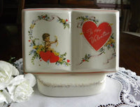 Vintage Royal Windsor To My Valentine Cupid Vase Planter - The Pink Rose Cottage
