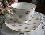 Vintage Aynsley Pink Roses Teacup and Saucer - The Pink Rose Cottage