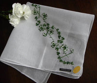 Vintage Tagged Embroidered St. Patrick's Day Shamrock Cocktail Size Handkerchief - The Pink Rose Cottage