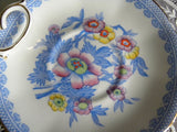Vintage Royal Albert Pink Blue Oriental Floral Teacup and Saucer - The Pink Rose Cottage