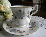 Royal Albert Lorraine Grapes Demitasse Teacup and Saucer - The Pink Rose Cottage