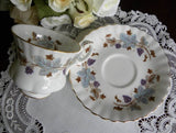 "Royal Albert ""Lorraine"" Grapes Demitasse Teacup and Saucer - The Pink Rose Cottage"