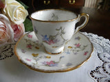 "Vintage Royal Standard ""Violets - Pompadour"" Demitasse Teacup and Saucer - The Pink Rose Cottage"