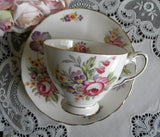 Vintage Tuscan Montrose Demitasse Teacup and Saucer - The Pink Rose Cottage