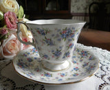"Royal Albert Nell Gwynne ""Covent Garden"" Forget Me Not Teacup - The Pink Rose Cottage"