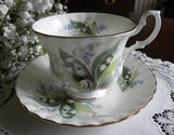 Vintage Royal Albert Summertime Series Cheverell Teacup and Saucer - The Pink Rose Cottage