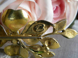 Vintage Original by Roberts Enameled Dogwood Pin Brooch - The Pink Rose Cottage