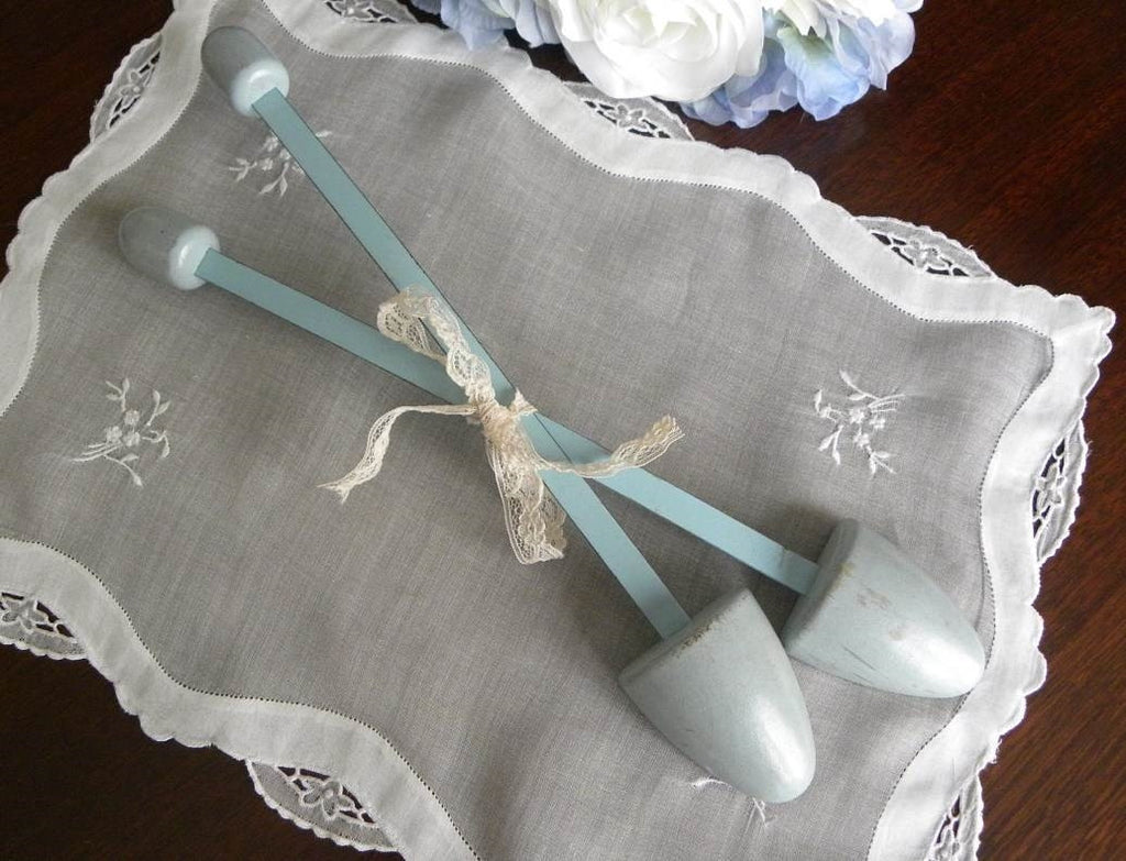 Vintage Womens Shoe Shaper Keeper Light Blue - The Pink Rose Cottage