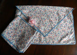Vintage Feedsack Tablecloth and Napkin Holder Storage - The Pink Rose Cottage