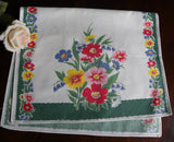 Vintage Wilendur Cosmos Tea Towel - The Pink Rose Cottage