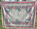 Vintage Dogwood Blossom with Pink Bows and Ribbons Tablecloth - The Pink Rose Cottage
